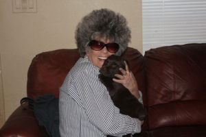 Aunt Diana and our chocolate girl Molly Nov 2011